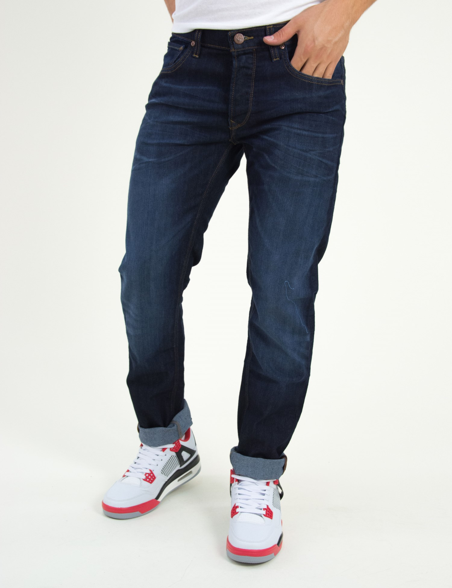 95109b50ef0d Ανδρικό τζιν παντελόνι Lee μπλέ σκούρο Daren L706AADB