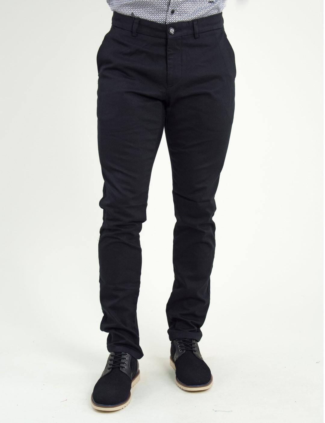Ανδρικό μαύρο υφασμάτινο Chinos παντελόνι Ben Tailor 2036F 6b7cca25696