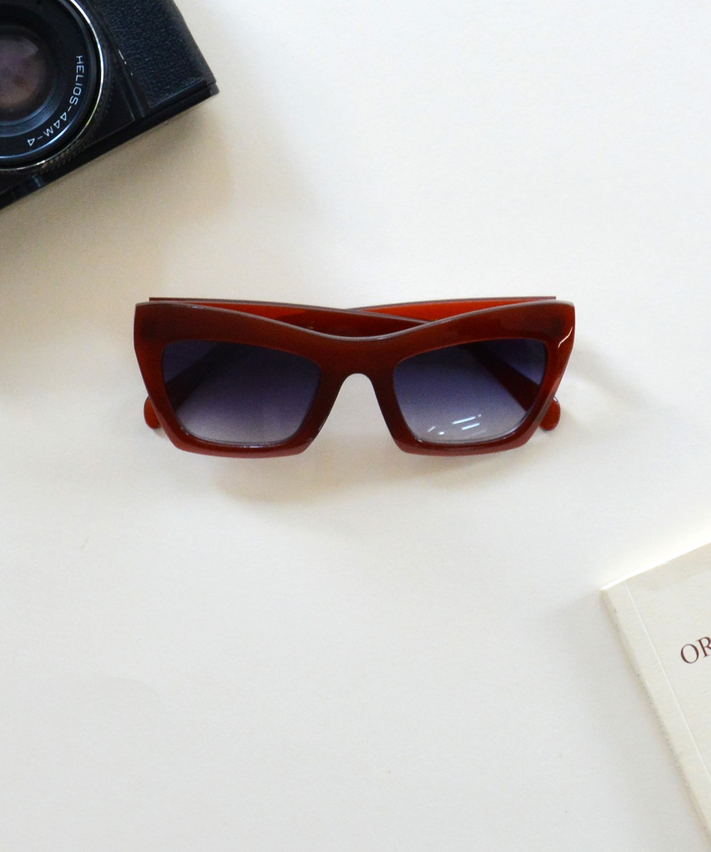 Γυναικεία γυαλιά ηλίου πεταλόυδα καφέ Handmade S6214 4aae469496a