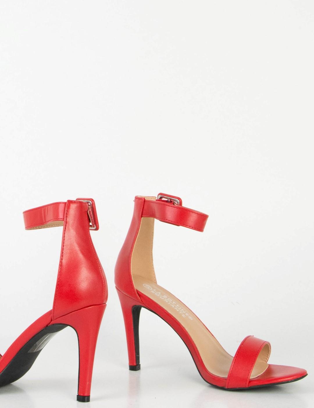 264dd9d90c0 Γυναικεία κόκκινα πέδιλα δερματίνη τόκα μπαρέτα 0355L