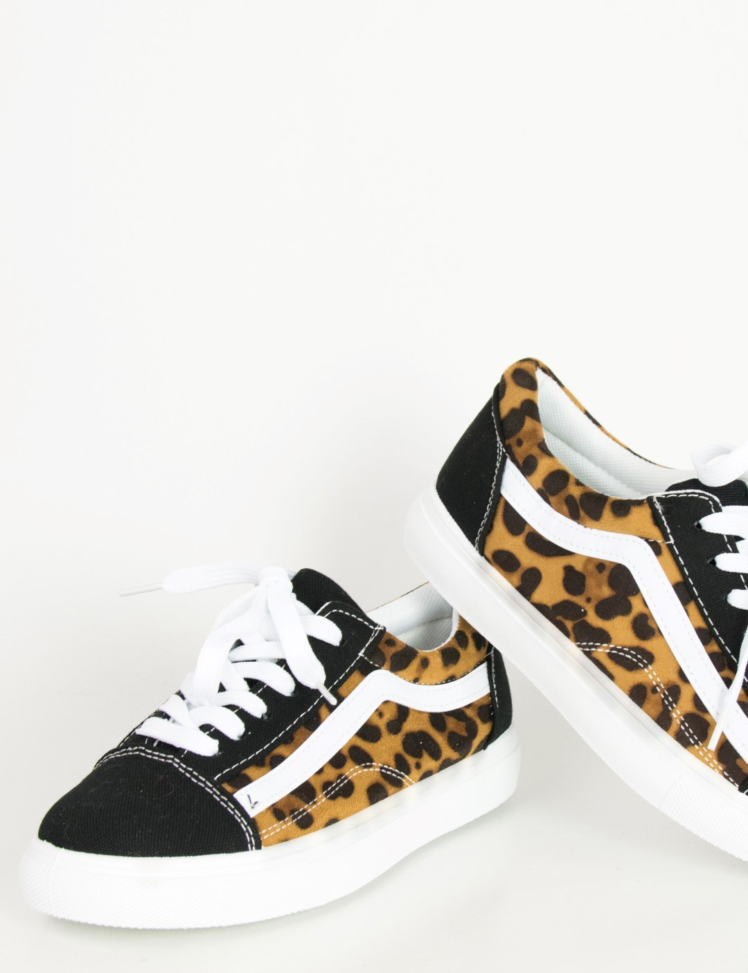 Γυναικεία λεοπάρ πάνινα Sneakers με διχρωμία M622W e73857a0275