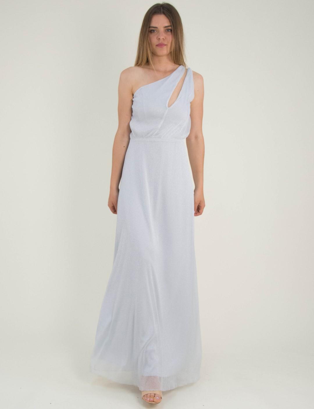 3bb83884482b Γυναικείο γκρι maxi φόρεμα Lurex τούλι No Stress 8575288