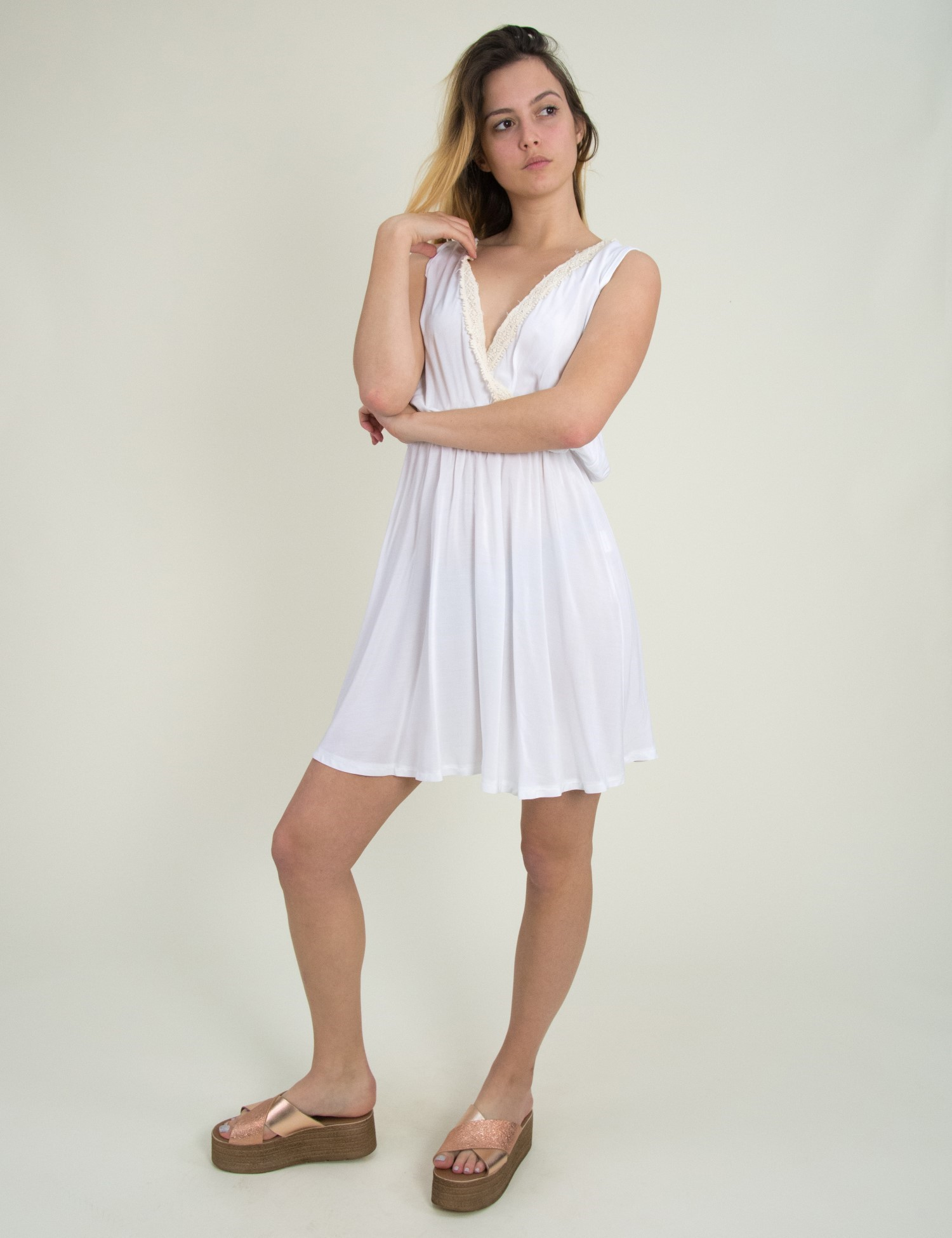 fed7a567a6c Γυναικεία > Ρούχα > Φορέματα > Καθημερινά / Maxi Φόρεμα με βαθύ ...