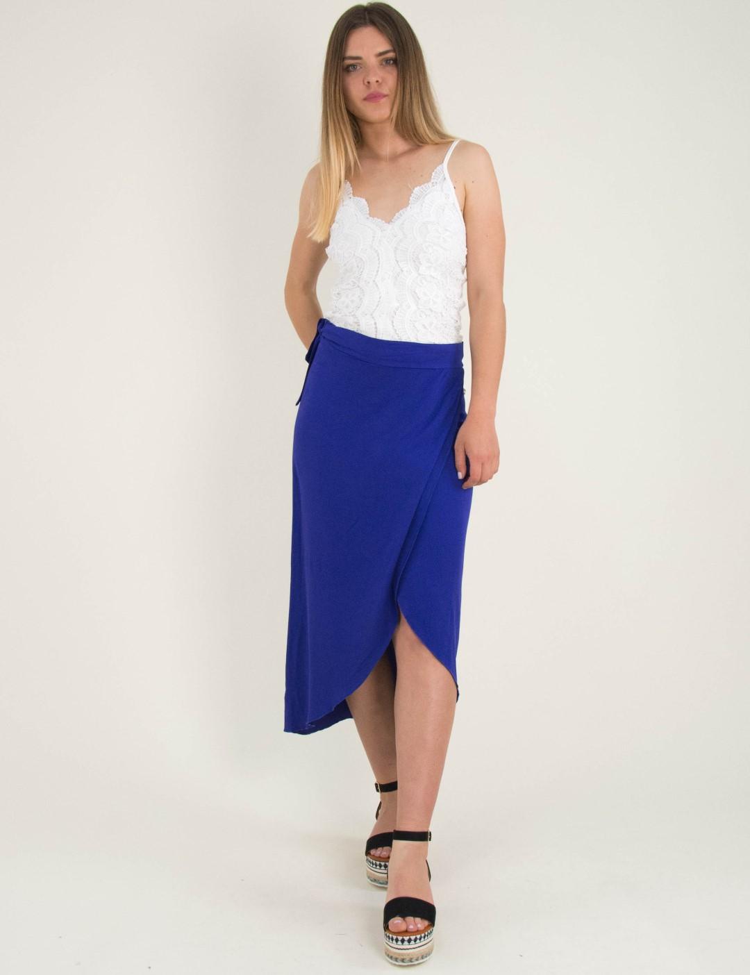 553c50102bbb Γυναικεία ρουά μάξι φούστα χιαστί Coocu 17841L
