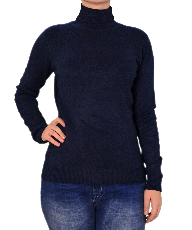 cd1ed638dd Γυναικεία μακρυμάνικη πλεκτή μπλούζα μπλε…