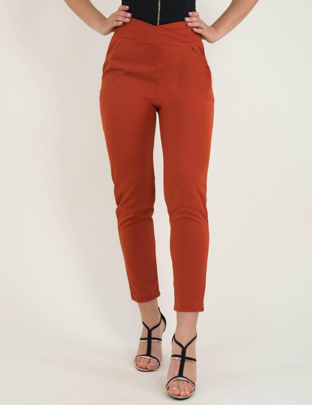 6218b2764815 Γυναικείο εκάι ψηλόμεσο παντελόνι με τσέπες So Sexy 41148B