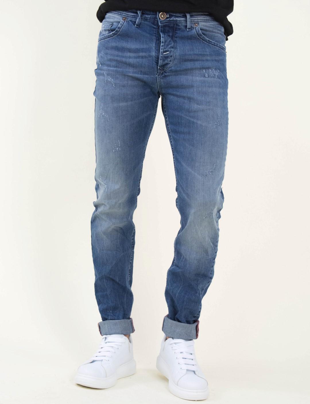 f83a553c2398 Ανδρικό μπλε τζιν παντελόνι φθορές Trial 19matthew
