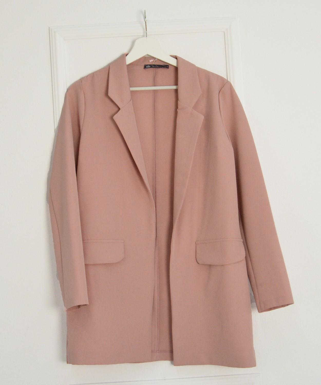 Γυναικείο σακάκι oversize σομόν 8022199Q e53bb2beeaa