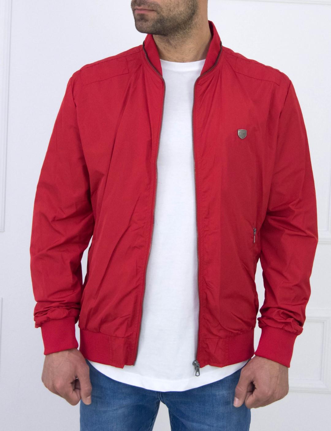 01050255ad Aνδρικό κόκκινο Fly Jacket τσέπες Inox 15400