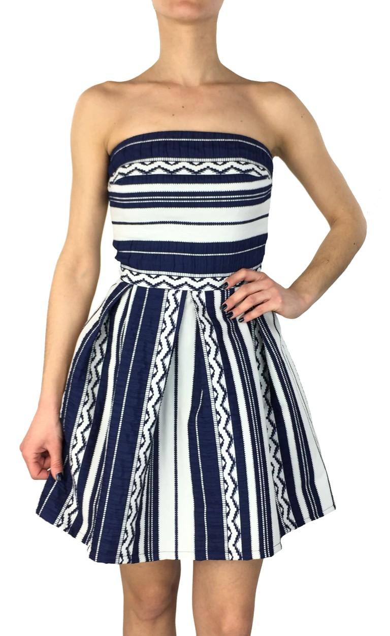 Coctail ριγέ κλος φόρεμα 013600015